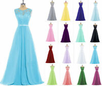 STOCK Lace/Chiffon Formal Party Ball Prom Gown Bridesmaid Evening Dress Size6-22