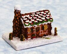 Dollhouse Miniature Gingerbread Log Cabin by Town Square Miniatures