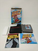 Super Mario Bros 2 Mario Madness Nintendo NES Complete CIB works