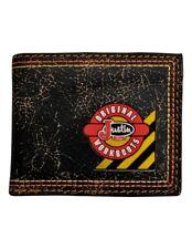 Justin Wallet Mens Bifold Workboot Outdoor Crackle Pocket Black WJW085
