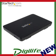 """StarTech USB 3.1 (10 Gbps) Tool-Free Enclosure for 2.5"""" SATA Drives"""