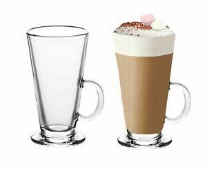 Large Tall Latte Glasses Mugs 300ml Cappuccino Coffee Hot Chocolate Drinks 2,4,6