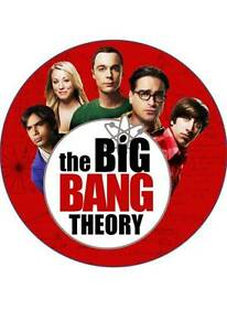 7.5 INCH APPROX 19 CM BIG BANG THEORY #1 EDIBLE RICE PAPER CAKE TOPPER