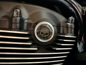 V rod CAM SHAFT COVER Domes For skull and text Harley Davidosn