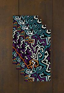 """Graffiti Purple 18"""" x 18"""" Napkins 1 Dozen"""