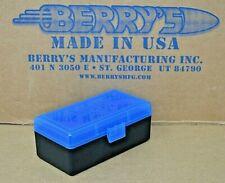9mm /.380 Plastic Storage Ammo Boxes (Blue / Black) Berry'S Mfg Buy 3 Get 1 Free