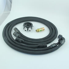 AN10 1.2m/1.4m/1.6m Nylon Braided OIL Line + OIL Cooler Filter Sandwich Adapter