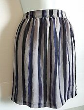 RICHARD CHAI GREY BLACK PURPLE STRIPED SIDE ZIP SHORT SKIRT JUNIORS SIZE 13