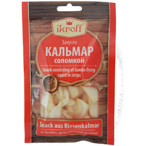 Riesenkalmar geräuchert gesalzen 36g Beer Snack Mahlzeit Kalmar Fisch