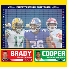Draft Experts 2020 Fantasy Football Draft Board Kit / Board and Player Stickers