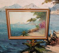 Idyllische Amalfiküste. Original Ölgemälde signiert F. WALTER (*1894-1970) Italy