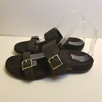 Vionic Ossa Size 8 TVW4607 Black Double Strap Slide Orthopedic Sandal NWOB