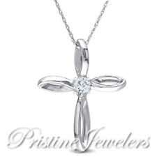 NEW 925 Sterling Silver Cross Gold Pendant & Chain Religious Christian Necklace