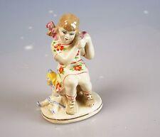 Russische Porzellanfigur Mädchen mit Puppe Porzellan Russland