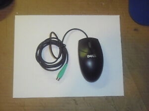 Dell PS/2 Mouse, Black, 2-Button, Scroll, 0W1668, 851841-1000