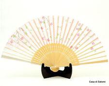 Ventaglio giapponese Japanese fan Sensu Seta Silk Bambù Bamboo Sakura rosa