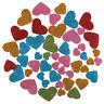 Glitter Foam Heart Shaped Sticker Scrapbooking Art Craft Adhesive Home Decor WL