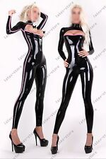 584 Latex Rubber Gummi open chest Catsuit bodysuit socks sexy customized 0.7mm