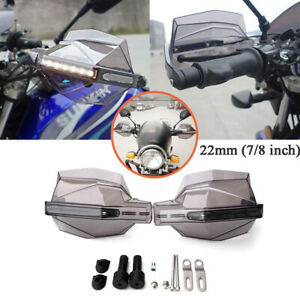 Pair 7/8'' L&R Motorcycle Amber LED Windshield Hand Guard Signal Light Handlebar