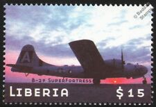 WWII BOEING B-29 SUPERFORTRESS Heavy Bomber Aircraft Stamp (Liberia)