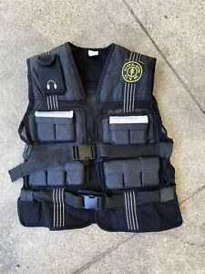 GOLDS GYM Weighted Vest Workout Exercise Adjustable 20 Pounds COMPLETE Black
