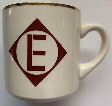 ERIE LACKAWANNA RAILWAY RAILROAD COFFEE MUG, GOLD RIM, VINTAGE