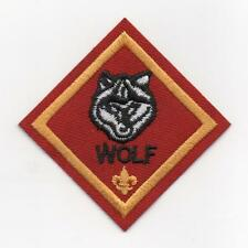 "Wolf Cub Rank Patch (Diamond) w/ New ""Since 1910"" Slogan Backing, Mint!"