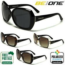 Be One Womens Polarised Sunglasses - Stylish Oval / Square Frame - Polarized