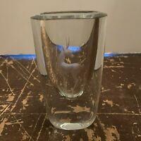 Vintage Strombergshyttan Scandinavian Art Glass Art Deco Gazelle Deer Vase
