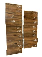 """9 SETS, Cocobolo Bookmatched Knife Blanks/Turning Blanks 5""""x1-1/2""""x3/8"""", #150"""