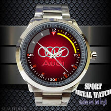 NEW RARE !!AUDI 2018 Dial New red logo Sport Metal Watch Men's Accessories 2017