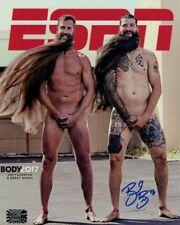 Brent Burns San Jose Sharks Signed ESPN Body Issue Cover 8x10 W/Joe Thornton