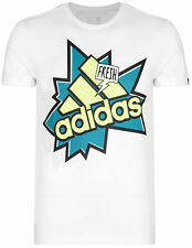 New - Men's Adidas Graphic Logo T-Shirt, Top - White