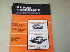 REVUE TECHNIQUE N° 368 B  - ALFETTA & PEUGEOT 104  2CV MEHARI DIANE - 1977 *