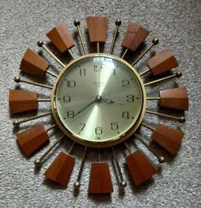 Vintage Sun/Star Burst Clock Working