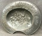 Heavy antique french barber advertising plate tray early 1900 s pewter 5lb
