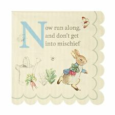 20 Meri Meri Peter Rabbit Small Paper Napkins - Birthday Party or Easter