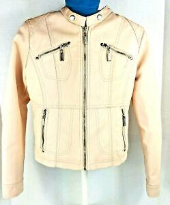 GULLIVER Girls Jacket Faux Leather Jacket Coat Collar Motorcycle Biker Black Plain for Kids 11-14 Years