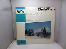 BEETHOVEN Symphonie nº 7 in (environ 17.78 cm) un op 92 DETROIT ORCHESTRA Wing WL1005 LP Vinyl