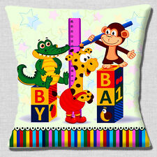 "NEW Baby Nursery Theme Crocodile Monkey Giraffe Baby 16"" Pillow Cushion Cover"