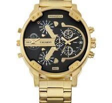 luxe montre hommes Sport Quartz horloge étanche or acier bracelet militaire