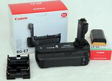 Canon Battery Grip batería pinzamiento bg-e7 para la EOS 7d como nuevo + batería Canon