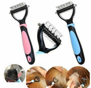 Professional Pet Grooming Undercoat Rake Comb Dematting Tool Dog Cat Brush