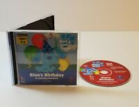 Blue's Clues: Blue's Birthday Adventure PC CD-Rom 1999 Windows Mac kids game