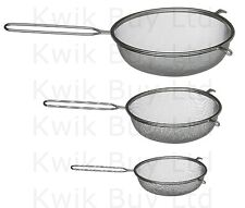 Strainer Mesh Sieve With Handle And Pan Hook Metal Colander Tin Tea Food Kitchen