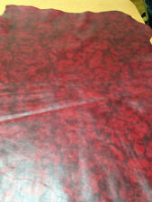 FREE SHIPPING!! Red&Black smooth finished Marble Pattern printed dyed lamb skin
