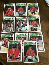 1988-89   O-Pee-Chee   CHICAGO BLACKHAWKS 11  card team set