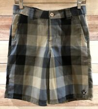 Rusty Women's Multi Colored Shorts Size 14 Casual Checkered Pattern LBB76