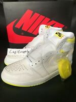 Nike Air Jordan 1 Retro High OG First Class Flight 4-13 White Yellow 555088-170