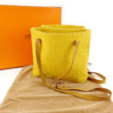 Hermes Tote bag Yellow Gold Woman Authentic Used Y5017